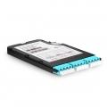3x LC Quad, 12 Fibers OM4 Multimode FHX TAP Cassette, 50/50 Split Ratio (Live/Tap), 1/10/40/100G