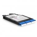 12 Fasern FHX TAP LWL-Kassette, OS2 Singlemode für 3x LC Quad auf 2x MTP (Male), Splitverhältnis 70/30 (Live/Tap), 10/40G