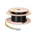 45m (148ft) 8芯 SC/UPC-SC/UPC 単芯 シングルモード 事前終端アセンブリー ブレークアウトケーブル(2.0mm、屋内外兼用)