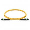 Maßgeschneiderte Länge MTP Buchse 12 Fasern Polarität A LSZH OS2 9/125 Singlemode Elite HD Trunkkabel, Gelb