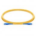 Customized Length SC UPC to SC UPC Simplex OS2 Single Mode PVC (OFNR) 2.0mm Fiber Optic Patch Cable