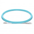 Customized Length LC UPC to SC UPC Simplex OM4 Multimode PVC (OFNR) 2.0mm Fiber Optic Patch Cable