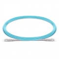 Customized Length SC UPC to SC UPC Simplex OM3 Multimode PVC (OFNR) 2.0mm Fiber Optic Patch Cable