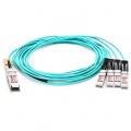 15m (49ft) Genérico compatible 100G QSFP28 a 4x25G SFP28 Cable de breakout óptico activo