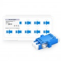 LC/UPC to LC/UPC Duplex Single Mode SC Footprint Plastic Fiber Optic Adapter with Flange (10pcs/pack)