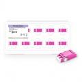 Adaptateur à Fibre Optique Plastique LC/UPC vers LC/UPC 10G OM4 Multimode Duplex, Type SC sans Bride, Violet (10pcs/Paquet)