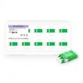 Adaptador de fibra óptica LC/APC a LC/APC dúplex monomodo tipo SC  sin brida  (10pzas./paquete)