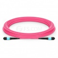 10m (33ft) MTP Male 12 Fibers Type B Plenum (OFNP) OM4 (OM3) 50/125 Multimode Elite Trunk Cable, Magenta