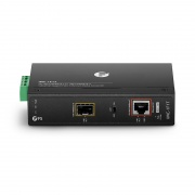 Industrial 1x 10/100/1000Base-T to 1x 100/1000Base-X SFP Slot Gigabit PoE+ Ethernet Media Converter