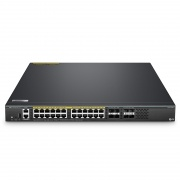 S5860-24XB-U, Switch de convergencia administrable capa 3 de 24 puertos multi-gigabit ethernet, 24 x 10G BASE-T, 4 x SFP+ 10Gb, 4 x enlaces ascendentes SFP28 25Gb, switch apilable, chip de Broadcom