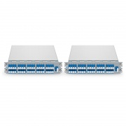 40 Channels C21-C60 Dual Fiber DWDM Mux and Demux with Monitor Port, Pluggable Module, LC/UPC, for M6200 Series
