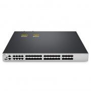 S5810-28FS Гигабитный Ethernet Pro полностью управляемый коммутатор 28 портов L3, 28 x 1Gb SFP, 4 x 10Gb SFP+ Uplink , 8 x Combo SFP, стекируемый коммутатор, чип Broadcom