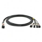 Cable breakout de cobre pasivo de conexión directa compatible con Cisco QSFP-4SFP25G-CU50CM, 100G QSFP28 a 4x25G SFP28 0.5m (2ft)