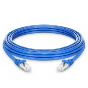 25ft (7.6m) Cat7 Snagless Shielded (SFTP) PVC CM Ethernet Network Patch Cable, Blue
