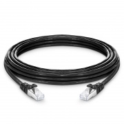 25ft (7.6m) Cat7 Snagless Shielded (SFTP) PVC CM Ethernet Network Patch Cable, Black