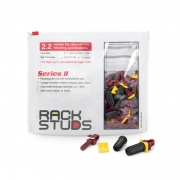 Rackstuds™ ラックマウント 2.2mm/0.086'' EIA スクエアパンチ垂直レール向け 赤色 100個/袋