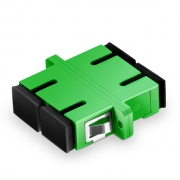 SC/APC to SC/APC Duplex Single Mode Fiber Optic Adapter/Coupler with Flange