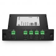 Divisor/Splitter fibra óptica 1x4 PLC, cassette estándar LGX, SC/APC, monomodo