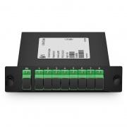 Divisor/Splitter fibra óptica 1x8 PLC, cassette estándar LGX, SC/APC, monomodo