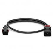 Z-Lock cable de extensión de alimentación IEC320 C13 a IEC320 C14, doble bloqueo, 17AWG, 250V/10A, 3.3ft (1m), color negro