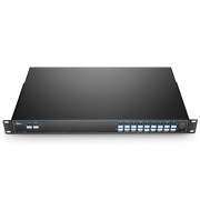 18 Channels Low-loss 1270-1610nm, with Monitor Port, LC/UPC, Dual Fiber, CWDM Mux Demux, 1U Rack Mount
