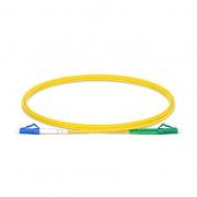 1m (3ft) LC UPC to LC APC Simplex OS2 Single Mode PVC (OFNR) 2.0mm Fiber Optic Patch Cable
