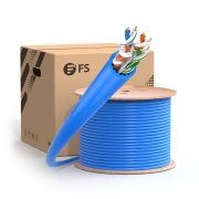 Cat6a Ethernet Bulk Cable, 1000ft, 23AWG Solid Pure Bare Copper Wire, 750MHz, Unshielded (UTP), PVC CMR (Blue)