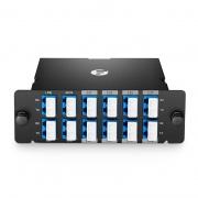 Mux Demux DWDM à 8 Canaux C21-C28, Double Fibre de Haute Densité, avec Port Moniteur, Port d'Expansion et Port 1310nm,  FHD Module Plug-in, LC/UPC