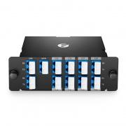 Mux Demux DWDM à 8 Canaux C53-C60, Double Fibre 100GHz de Haute Densité  pour Solution Hybride CWDM/DWDM, avec Port Moniteur et Port d'Expansion, FHD Module Plug-in, LC/UPC