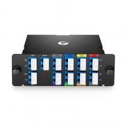 8 Kanäle 1470-1610nm, mit Monitor und Erweiterungsport, LC/UPC, Doppelfaser, Hohe Dichte CWDM Mux Demux, FHD Plug-in Modul