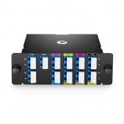 8 Kanäle 1270-1450nm (Außer 1390, 1410nm), mit Monitor und Erweiterungsport, LC/UPC, Doppelfaser, Hohe Dichte CWDM Mux Demux, FHD Plug-in Modul