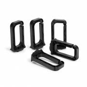 3.37'' Detachable Plastic D-Ring for Horizontal Cable Manager,  5pcs/pack