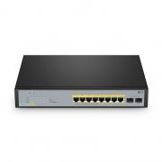 S2800S-8T2F-P, 8-Port Gigabit Ethernet L2+ Smart Managed PoE+ Switch, 8 x PoE+ Ports @65W, with 2 x 1Gb SFP Uplinks, Fanless