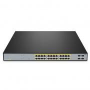S2800S-24T4F-P, 24-Port Gigabit Ethernet L2+ Smart Managed PoE+ Switch, 24 x PoE+ Ports @220W, with 4 x 1Gb SFP Uplinks