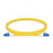 1m(3ft)LC/UPC-LC/UPC ショートブーツ デュプレックス シングルモード 光パッチケーブル(2.0mm、PVC/OFNR、OS2)