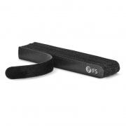 25pcs/Bag 5.12in.L x 0.59in.W Hook and Loop Cable Ties, Pre-Cut Design, Self-bundling, Black