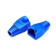 Manchons de Protection pour Connecteur Cat5e RJ45, Diamètre Extérieur de 6,5mm pour Câble Réseau Ethernet Cat5e F/UTP 24AWG, Bleu, 50PCS/Paquet
