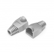 Cat6 RJ45 Strain Relief Boots, 6.0mm OD for Cat6 UTP 23~24AWG Ethernet Cables, Gray, 50PCS/Pack