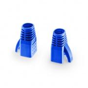 Manchons de Protection pour Connecteur Cat6a RJ45, Diamètre Extérieur de 7,5mm pour Câble Réseau Ethernet Cat6a UTP 23AWG, Bleu, 50PCS/Paquet