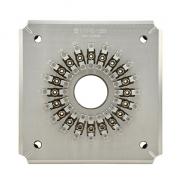 Pulido fijación/soporte para ST/UPC 20 conectores (ST/UPC-20 plantilla de conector)