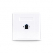 Single Port Fibre Optic Wall Plate Outlet, SC Simplex UPC OS2 Single Mode, Straight