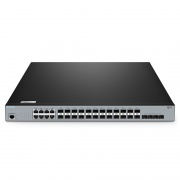 S3900-24F4S-R 16ポート ギガビットイーサネット スタック可能なフルマネージドL2+スイッチ(8 x ギガビットコンボ、4 x 10Gb SFP+ポート付き)
