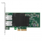Intel X550-AT2-Based Ethernet Network Interface Card, 10GBase-T Dual-Port, PCIe 2.1 x8, Tall Bracket
