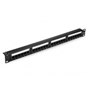 24-Port Cat5e Unshielded 110 Punch Down Patch Panel, 1U Rack Mount
