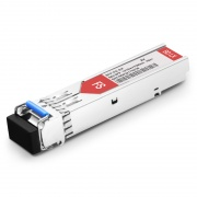 Avaya AA1419082-E5 Compatible 100BASE-BX-U BiDi SFP 1310nm-TX/1550nm-RX 10km DOM LC SMF Transceiver Module