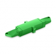 LSH/APC to LSH/APC Simplex Single Mode Plastic Fiber Optic Adapter/Coupler with Flange