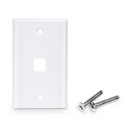 Placa de Pared de Red de 1 Puerto RJ45 Tipo Keystone Single Gang - Tapa Placa Para Caja Pared - Blanca