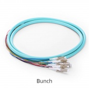 Customized LC/SC/FC/ST/LSH 4-24 Fibers OM4 Multimode Fiber Optic Pigtail