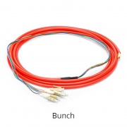 Customized LC/SC/FC/ST/LSH 4-24 Fibers OM1/OM2 Multimode Fiber Optic Pigtail