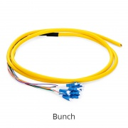 Customized LC/SC/FC/ST/LSH 4-48 Fibers OS2 Single Mode Fiber Optic Pigtail